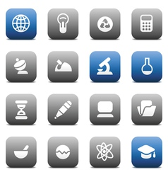 Matte buttons for science and education vector image