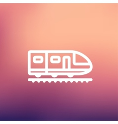 Modern high speed train thin line icon vector image