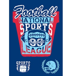 National football sports league vector image