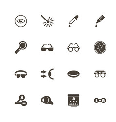 optometry - flat icons vector image