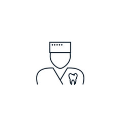 Orthodontist creative icon from dental icons vector