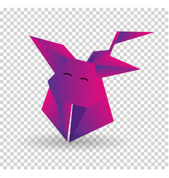 paper dog in origami style icon symbol vector image