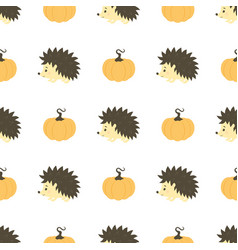Pattern with hedgehog vector