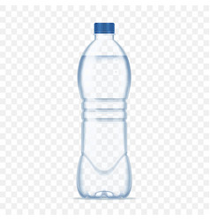 Plastic bottle with mineral water on alpha vector