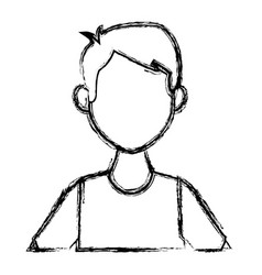 portrait of a young man character on white vector image
