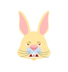 Rabbit angry emoji hare evil emotions avatar vector