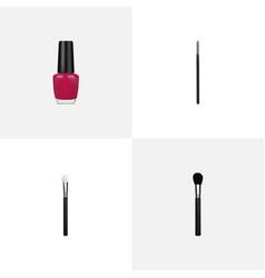 Realistic powder blush beauty accessory contour vector