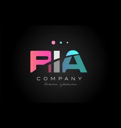 ria r i a three letter logo icon design vector image