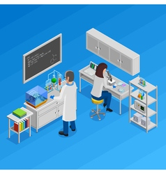 Science Isometric Concept vector