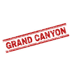 Scratched textured grand canyon stamp seal vector