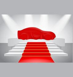 set red silk car cloth covered or realistic red vector image
