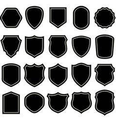 shield blank emblems heraldic shields shape vector image