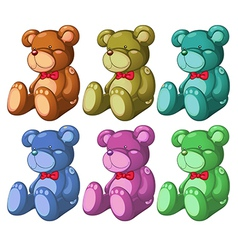Six bears vector image