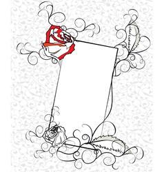 sketch ornate roses frame vector image