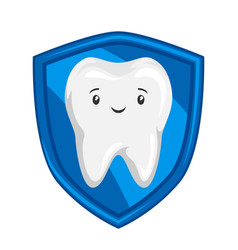 Smiling protected healthy tooth vector