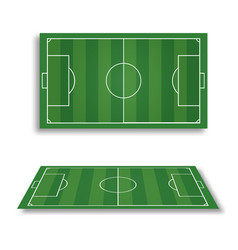 soccer field collection perspective elements vector image