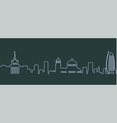 Sofia single line skyline vector