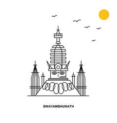 swayambhunath monument world travel natural vector image