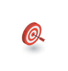 target goal success marketing concept arrow vector image