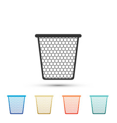 trash can icon isolated on white background vector image