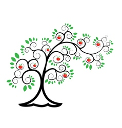 tree branched Apple tree vector image
