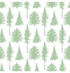 Trees silhouette seamless patten ecology vector