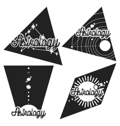 Vintage astrology emblems vector image