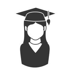 woman graduate graduation education university vector image