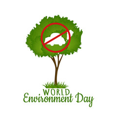 world environment day green tree vector image