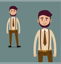 young male bearded cartoon character vector image