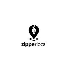 Zipper local logo design concept vector