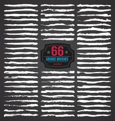 66 GRUNGE BRUSHES SET vector image