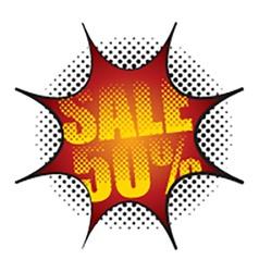 Comic Speech Bubble Sale 50 Percent vector image