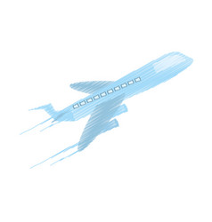 drawing delivery airplane worldwide vector image vector image