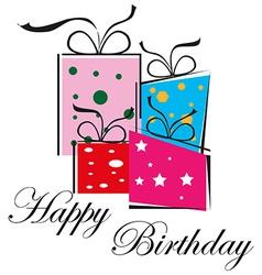 Happy birthday gifts vector image