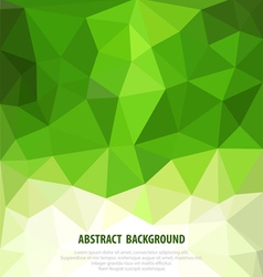 abstract green background with mosaic for business vector image