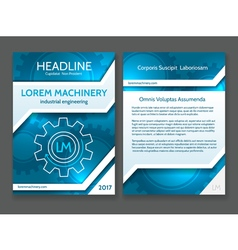 Abstract technology brochure template modern vector image vector image