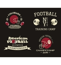 American football championship team training camp vector image vector image