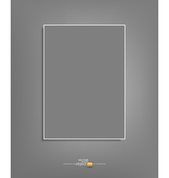 background with a gray sheet of paper hanging vector image
