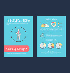 business idea startup concept vector image vector image