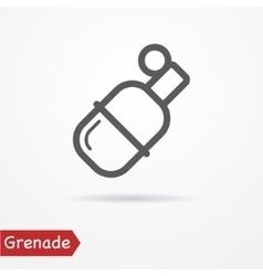 Grenade silhouette icon vector image vector image