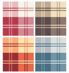 Set of Multicolor Types of Square Pattern Fabrics vector image