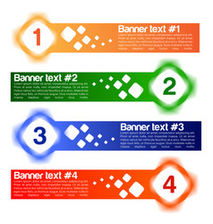 a set of four banner vector image