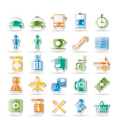 airport and transport icons vector image