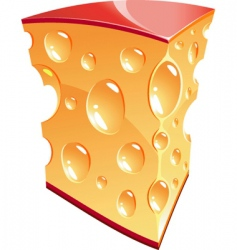 cheese vector image vector image