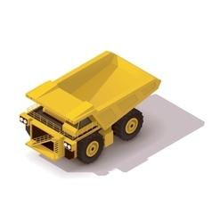 isometric haul truck vector image vector image