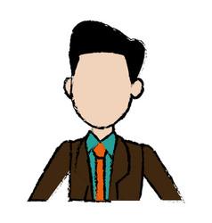 portrait man politician business cartoon vector image
