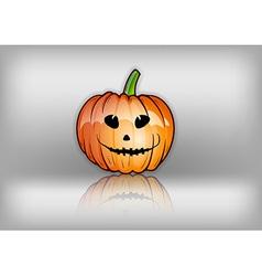 pumpkin reflect grey vector image