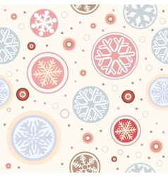 snowflake seamless vector image vector image