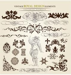 calligraphic set vector image